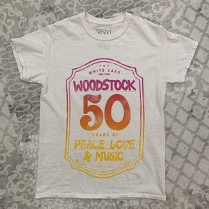 Tops - Woodstock T-Shirt Peace Love Oversized Tee